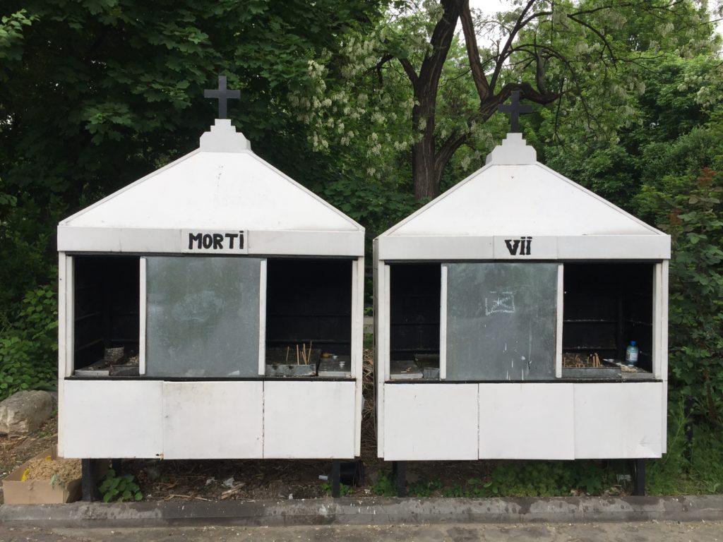 Tote und Lebende bevölkern Bukarest